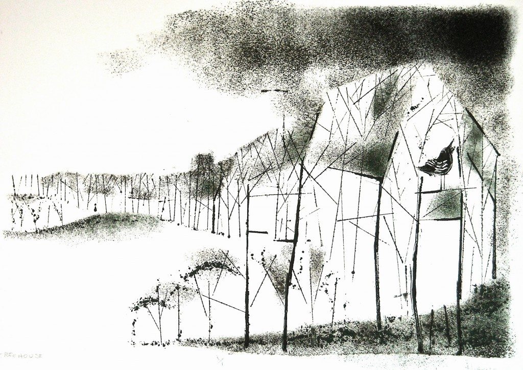 "Tree House, Monotype 15x21"", 2010"